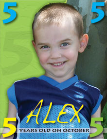Alex is 5 on October 5th!
