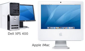 Comparing a Dell XPS 400 to an Apple iMac