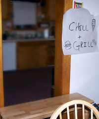 We made our own Chill & Grill!