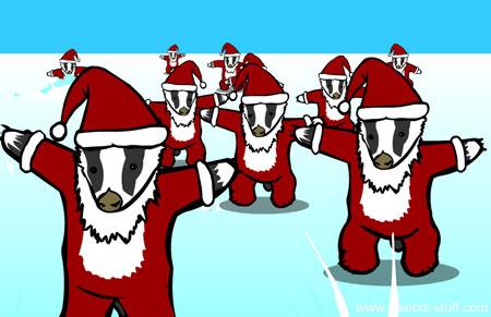 Christmas Badger Badger Badger