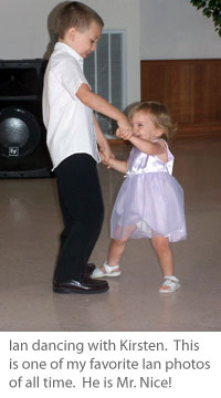 Ian dancing with his sister Kirsten