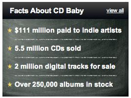 CD Baby Stats