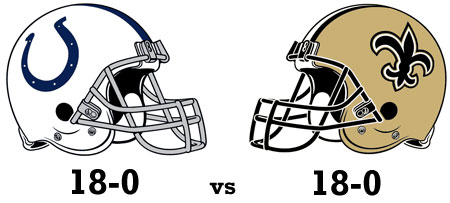 Could Super Bowl XLIV feature two undefeated teams??