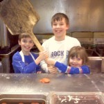 The kids got to be pizza makers for a night!