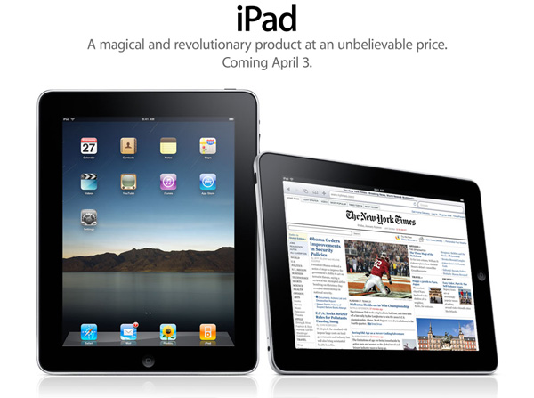 iPad - coming April 3rd