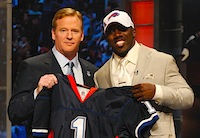 Buffalo Bills RB C.J. Spiller and Roger Goodell