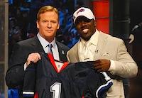 Buffalo Bills RB C.J. Spiller and Roger Goodell