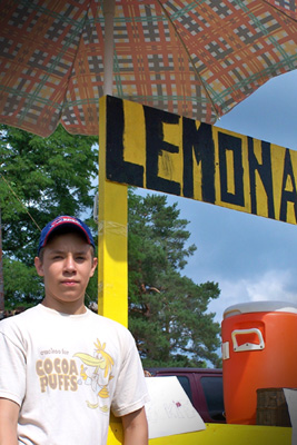 Ian Campbell and his Lemonade Stand