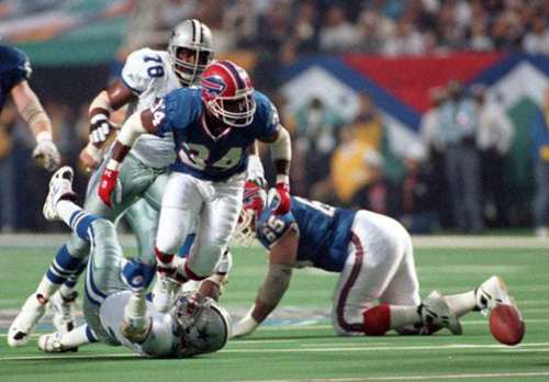 Thurman Thomas' Super Bowl XXVIII fumble
