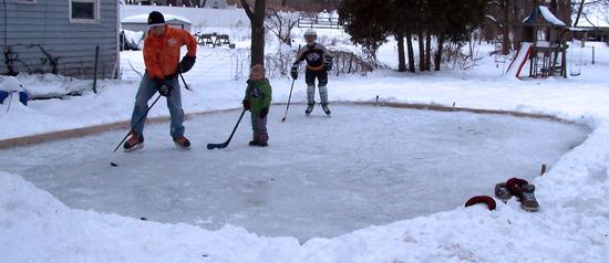 U003cu003c Project: Backyard Ice Rink (Part 4)