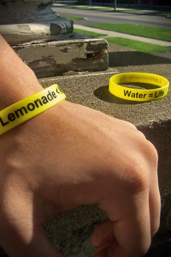 Lemonade < Water, Water = Life Bracelets for Charity