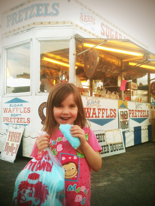 Cotton Candy at the County Fair