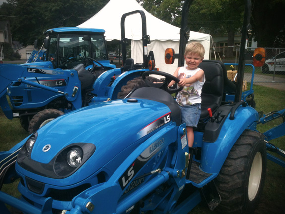 Farmer Cam on his Tractor